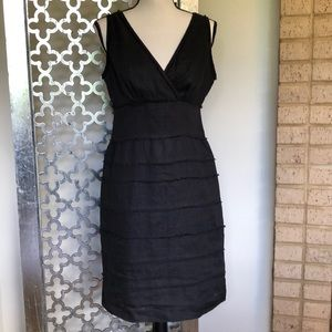 NWOT TALBOTS Size 8 💯 linen black dress